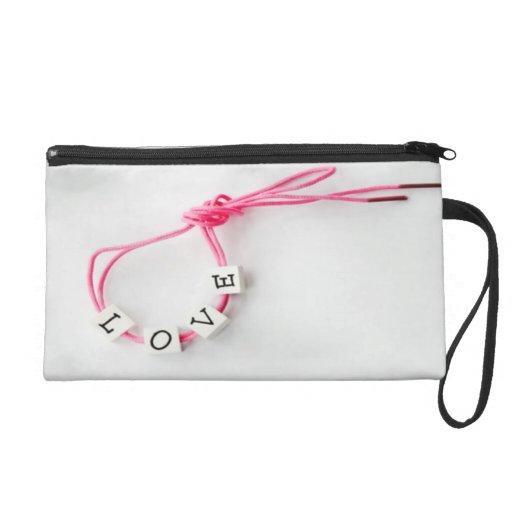 Valentines love wristlet clutch