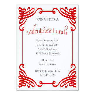 Valentine's Lunch Party Card