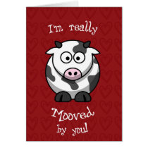 Valentine's Moo Cow Card