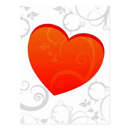 Valentine's Motif Postcard