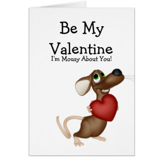 Valentines Mouse Card