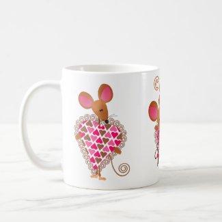 Valentine's Mouse Mug mug
