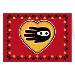 Hand shaped Valentine's Ninja Card
