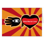 Hand shaped Valentine's Ninja Warrior Love Card