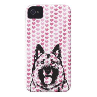 Valentines - Norwegian Elkhound Silhouette iPhone 4 Cover