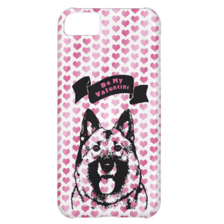 Valentines - Norwegian Elkhound Silhouette iPhone 5C Covers