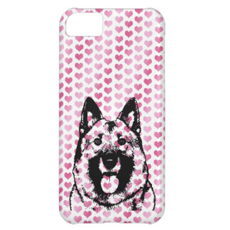 Valentines - Norwegian Elkhound Silhouette Cover For iPhone 5C