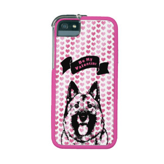 Valentines - Norwegian Elkhound Silhouette Cover For iPhone 5