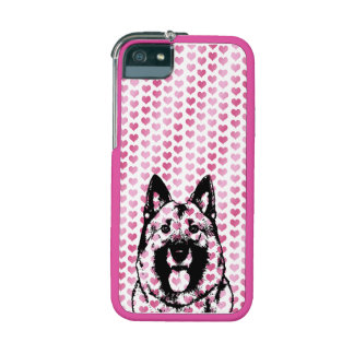 Valentines - Norwegian Elkhound Silhouette Case For iPhone 5/5S