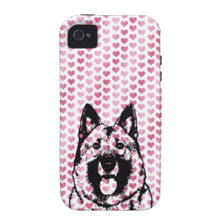 Valentines - Norwegian Elkhound Silhouette Case For The iPhone 4