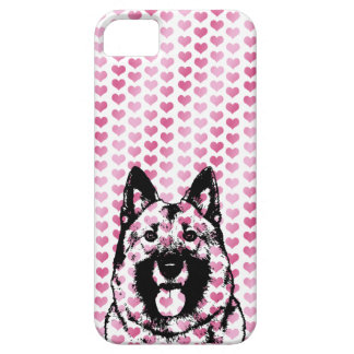 Valentines - Norwegian Elkhound Silhouette iPhone 5/5S Covers