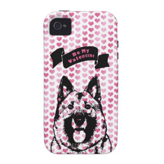 Valentines - Norwegian Elkhound Silhouette iPhone 4/4S Covers