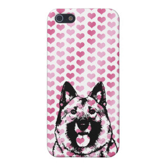 Valentines - Norwegian Elkhound Silhouette iPhone 5/5S Cover