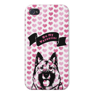 Valentines - Norwegian Elkhound Silhouette Case For iPhone 4
