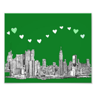 valentines NYC in green Photo Print