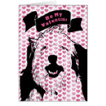 Valentines - Olde English Sheepdog Silhouette Card