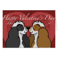 Valentines Parti Cocker Spaniel Greeting Cards