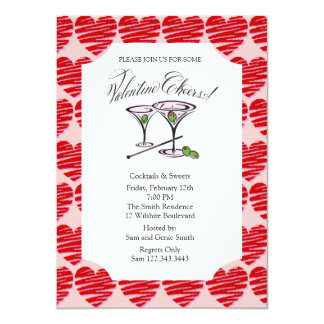 Valentine's Party Cocktails Card