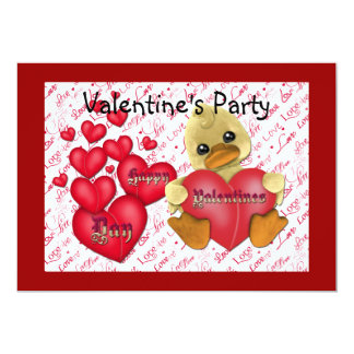 Valentine's Party Invitation Cards