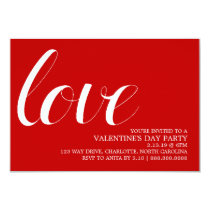 Valentine's Party Invite | Mod Pen Love
