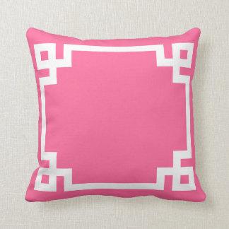 Valentines Pink Greek Key Pillow