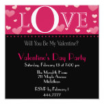 Valentine's Pink Invitation