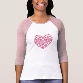 Valentine's Pink Scroll Heart T-Shirt