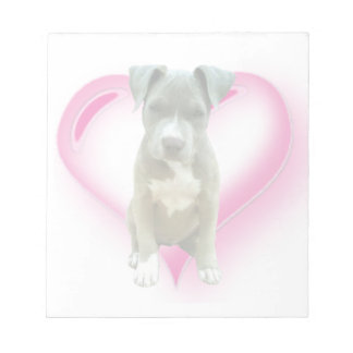 Valentines Pitbull puppy Notepad