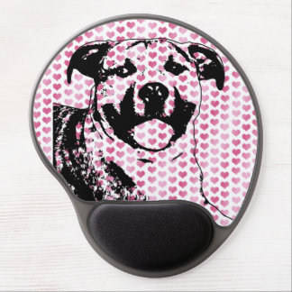 Valentines - Pitbull Silhouette Gel Mousepad
