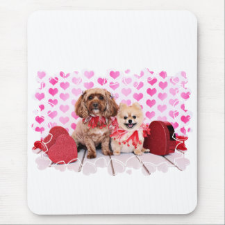 Valentines - Pomeranian Tinkerbell Cockapoo Lacey Mouse Pads