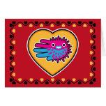 Hand shaped Valentine's Puffer Fish card
