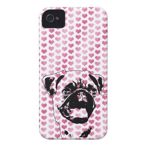 Valentines - Pug Silhouette Blackberry Bold Case