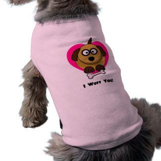Valentines Puppy Love - I Wuff You Shirt