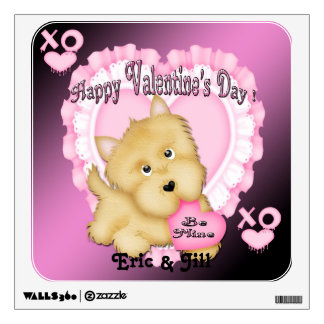 Valentine's Puppy Square Wall Decal