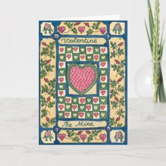 Valentine's Quilt card