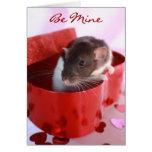 Valentine's Rat Card