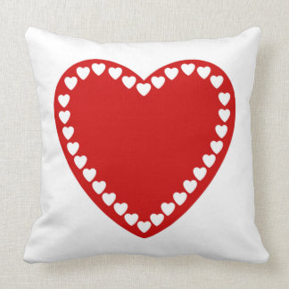 Valentines Red Heart Throw Pillow