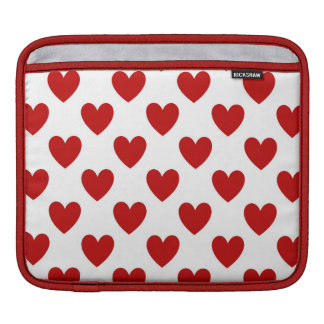 Valentine's Red Love Hearts iPad Horizontal Sleeve