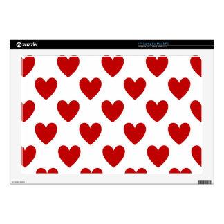Valentine's Red Love Hearts Mac & PC Laptop Skin