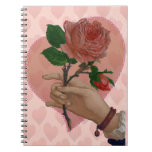 Valentines Red Rose hand of friendship Note Book