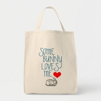 "Valentine's Reusable Grocery Bag: ""Some Bunny..."" Tote Bag"