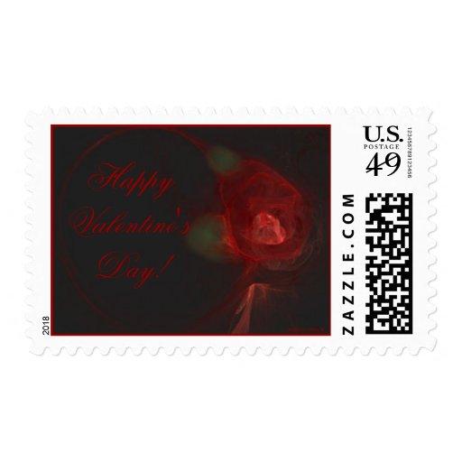 VALENTINE'S ROSE ~ On Black Stamps