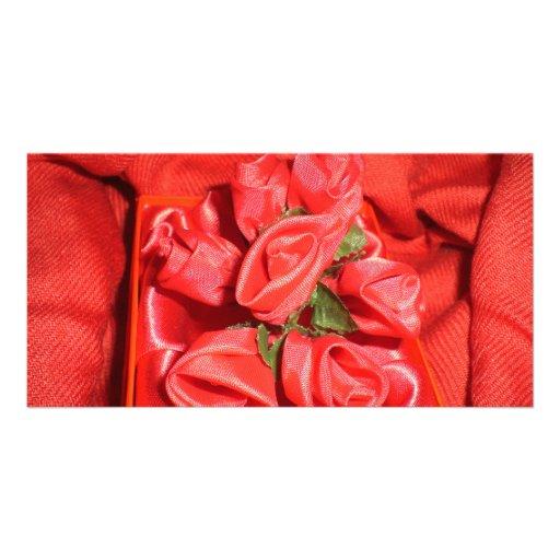 VALENTINES ROSES CUSTOM PHOTO CARD