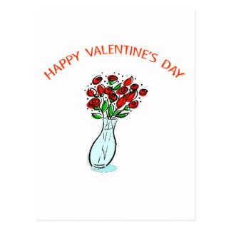 Valentine's Roses Postcard