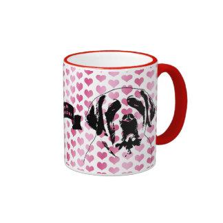 Valentines - Saint Bernard Silhouette Coffee Mug