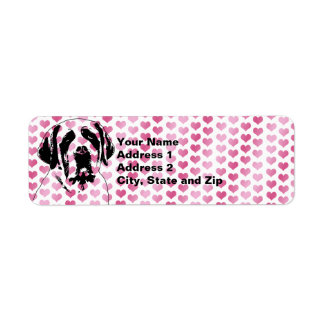 Valentines - Saint Bernard Silhouette Return Address Label