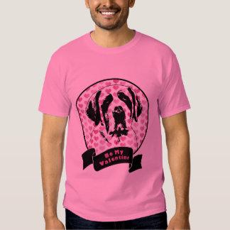 Valentines - Saint Bernard Silhouette Tee Shirt