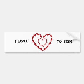 Valentines Salmon Heart Bumper Sticker