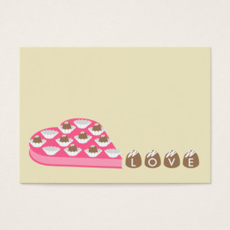 Valentine's - Set of 100 - Chocolate Candy Cards
