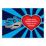 Hand shaped Valentine's Sharktastic Shark card